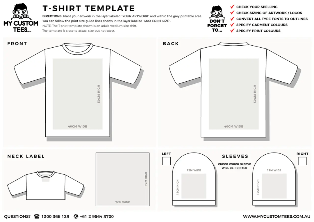 my custom tees tshirt template