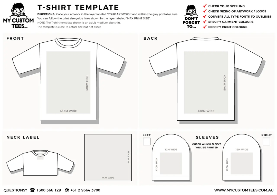 my custom tees tshirt template