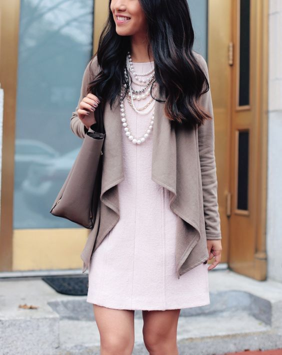 20-a-drape-cardigan-a-rose-quartz-shift-dress-pearls-for-the-office