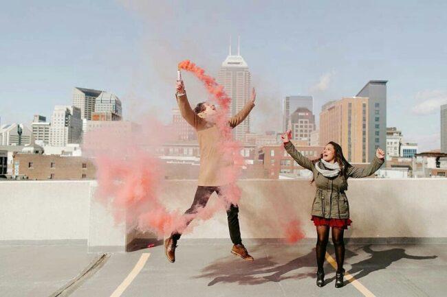 smoke bombs gender reveal