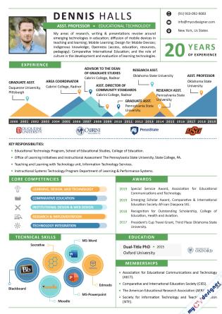 Infographic CV (MCDI0008)