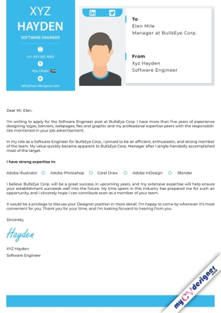 Cover Letter - Designed (MCDCLD0108)