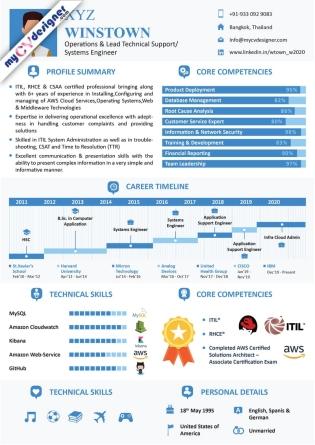 Infographic CV (MCDI0016)