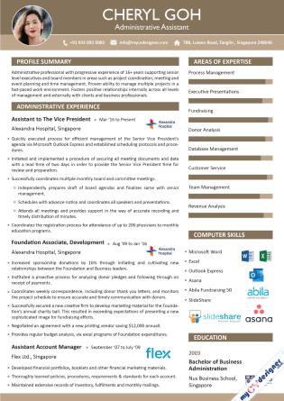 Visual CV (MCDV0019)