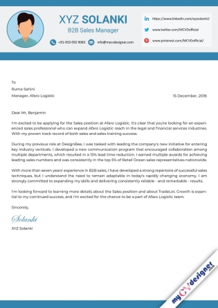 Cover Letter - Designed (MCDCLD0135)