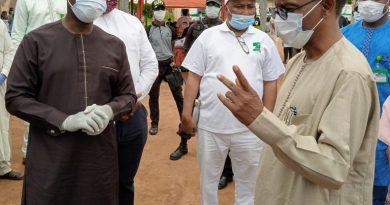 Gov Nasir El Rufa'i Right of Kaduna State during a visit to over 200 Almajiris undergoing rehabilitation at Government College Kurmin Mashi Kaduna on Mo 768x677 1