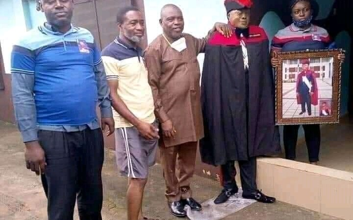 SHOCKING: Dead Man Made To Stand Upright For Family Portraits