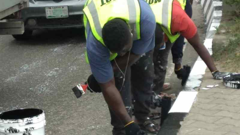 Infrastructure Maintenance: LASG Embarks on Road Marking, Kerbs Painting