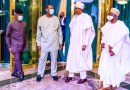 PHOTOS: Adeboye Visits Buhari in Aso Villa