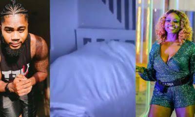 Video: Nigerians React As BBNaija's Praise, Ka3na Caught Having Sex