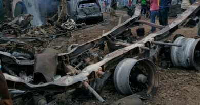 [PHOTOS] 15 Injured, Property Destroyed In Iju Gas Tanker Explosion