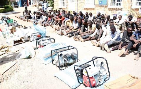 looting hoodlums arrested in Jos