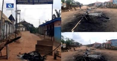 Scenes of the communal clash in Ode community Ondo State