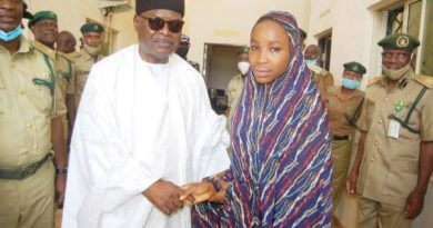 Rahma with Justice Bello after her pardon 603x330 1