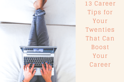 13 Career tips twenties
