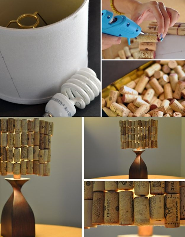 DIY-Lampshade-from-Wine-Corks