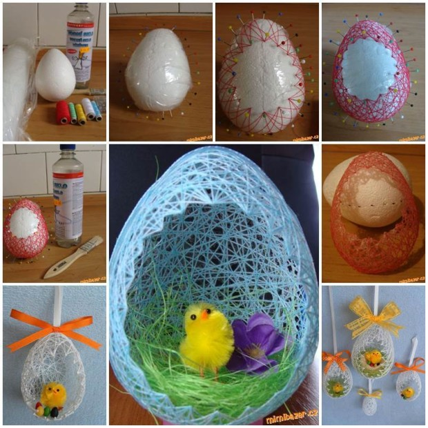 Easter Decorating Ideas   My Daily Magazine   Art  Design  DIY     DIY Easter Egg Basket mydailymagazine