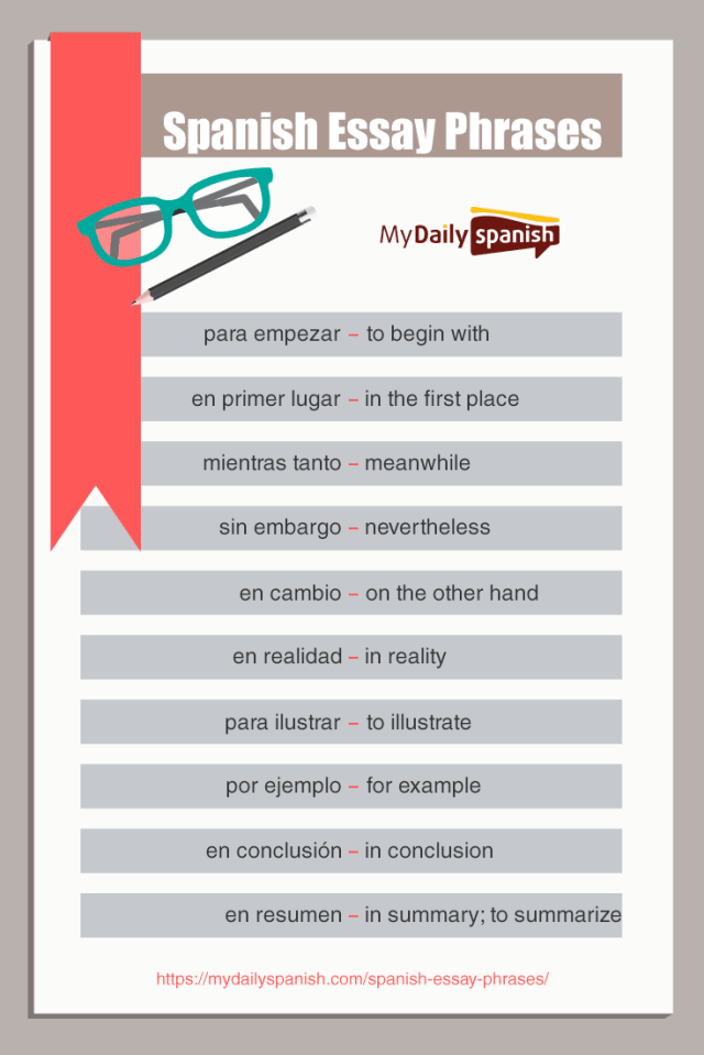 Spanish Essay Phrases: 28 Useful Phrases for an Impressive Writeup