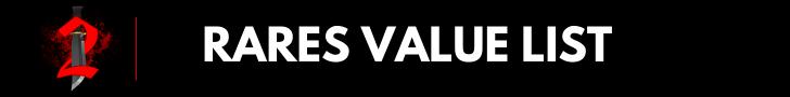 Rares value list