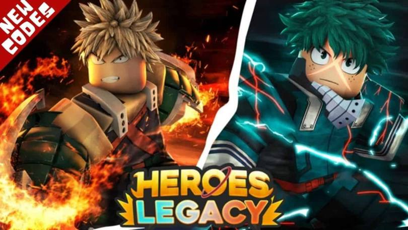 All Roblox Heroes Legacy codes