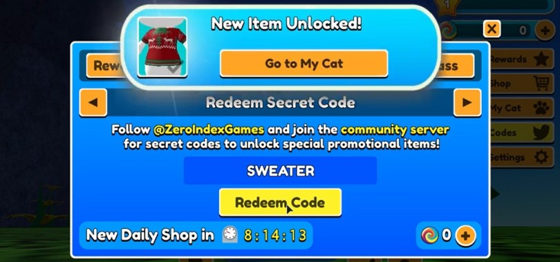 Wizard Cats Codes