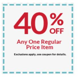 Michaels Extra 40 Off 1 Item Coupon And More My Dfw Mommy