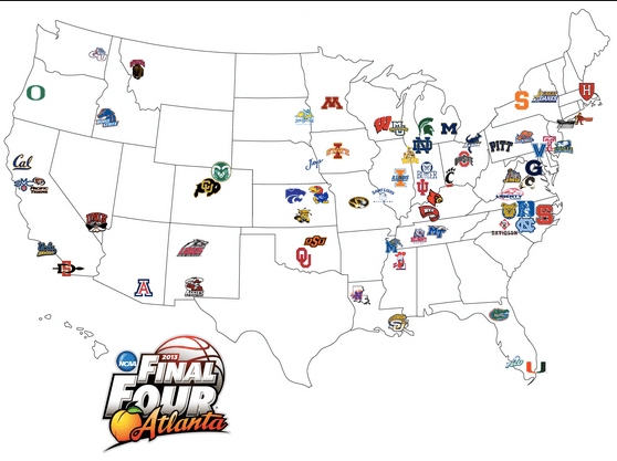 March Madness Mapping ~ Great Educational Tool
