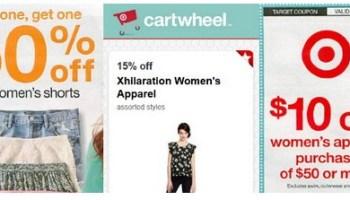 fcf581512a7ee 3 New Women's Apparel Target Cartwheel Offers + $10 Off Women's Apparel  Purchase of $50+