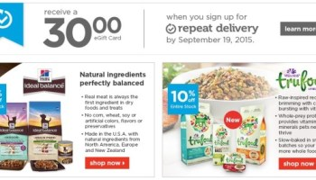 Petco~ FREE Shipping on Any Order + FREE $30 eGift Card with