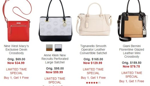 Macy s~ Up To 70% Off Coach and Michael Kors Handbags + Select Clearance  BOGO 3f661040010e8