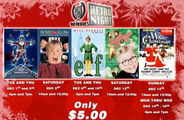 B B Theaters Holiday Retro Nights Watch Christmas Vacation Home