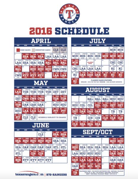 graphic regarding Texas Rangers Schedule Printable called Downloadable 2018 Texas Rangers Agenda Similar Search phrases
