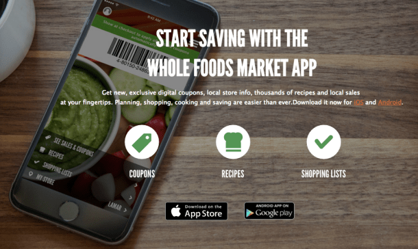 Whole foods market app new store coupons 2 off grass fed ground screen shot 2016 03 31 at 33434 pm forumfinder Gallery