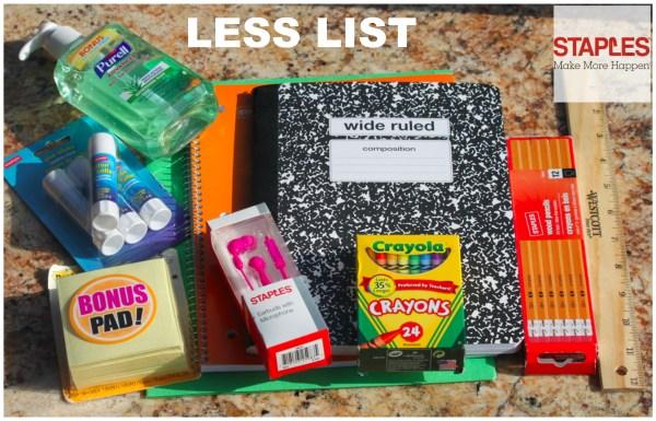 Staples Less List