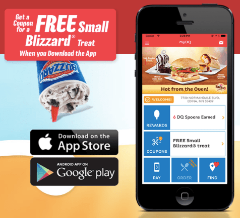 Free Blizzard Treat at Dairy Queen