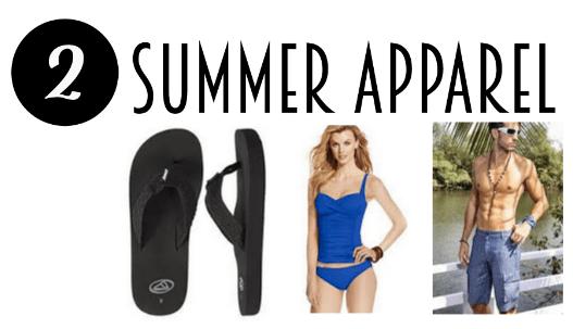 Top ten things to buy during summer sales