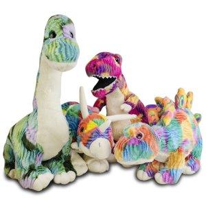 Amazon Dinosaur 4 Pc Plush Set Only 49 99 My Dallas Mommy