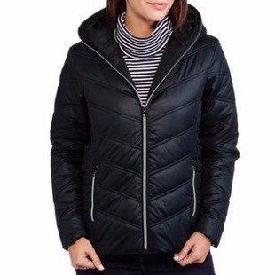 259e500d46747 Check out this Climate Concepts Women's Hooded Chevron Jacket we found at  Walmart for only $10. Normally this is priced at $19.88.