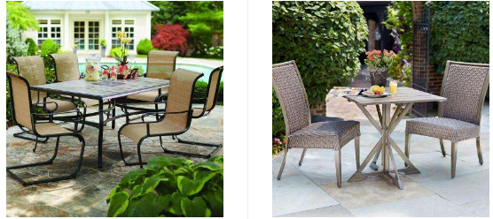 Great Home Depot takes up to off a selection of Hampton Bay patio furniture Get this Hampton Bay Belleville Piece Patio Dining Set for retail