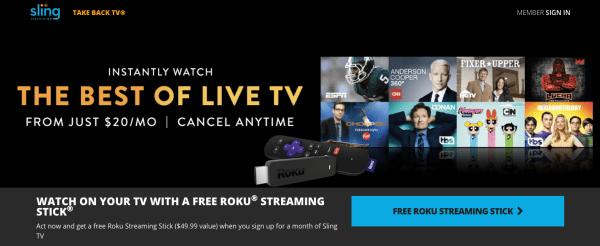 Sling tv coupon code