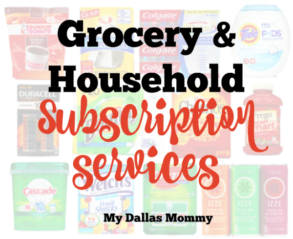 Household and grocery subscription services