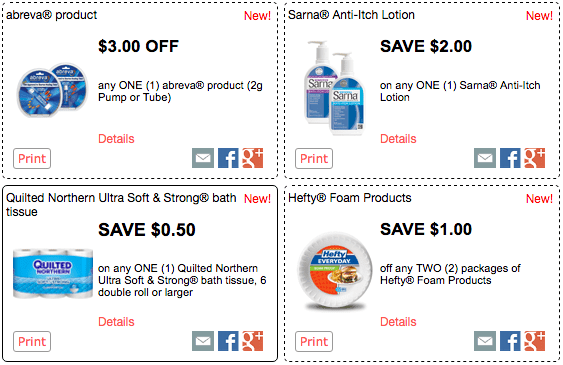 check out these 12 new redplum printable coupons and some of them are super high value so print now