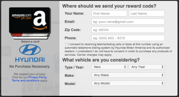 head to hyundaiusacom and enter your zip code in the blue bar at top of site to find the nearest dealership nearest you then click on the view inventory - How To Use Visa E Gift Card