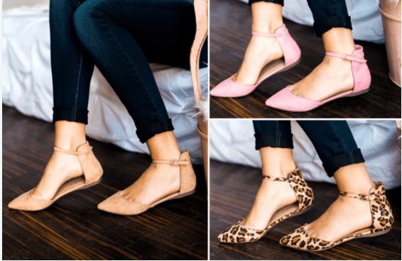 d5dc8ea84 Ankle Strap Pointed Toe Flats Only $19.99 - My DFW Mommy