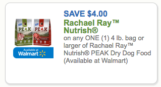 photograph regarding Printable Rachael Ray Dog Food Coupons titled Fresh new $4/1 Rachael Ray Nutrish Height Puppy Food stuff Coupon \u003d Simply