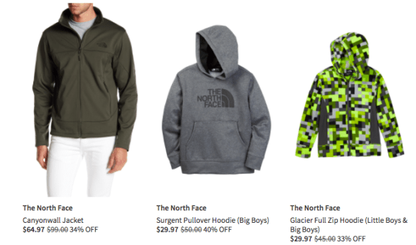 f214bebc1 Nordstrom Rack takes up to 80% off a selection of The North Face men's,  women's, and kids' apparel, shoes, and accessories.