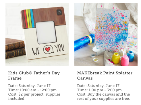 michaels kids club event this saturday make a frame for dad my