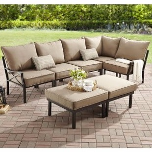 Walmart Mainstays Sandhill 7 Piece Outdoor Sofa Sectional Set Only