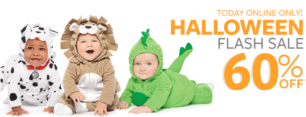 f657c18b7 Today only and online only, shop Carters where they are offering 60% off  items in the Halloween Shop including baby costumes!