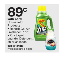 image relating to Xtra Laundry Detergent Printable Coupon referred to as Walgreens~ Xtra Laundry Detergent Simply 89¢ (No Discount coupons